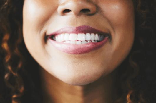 A womans smile
